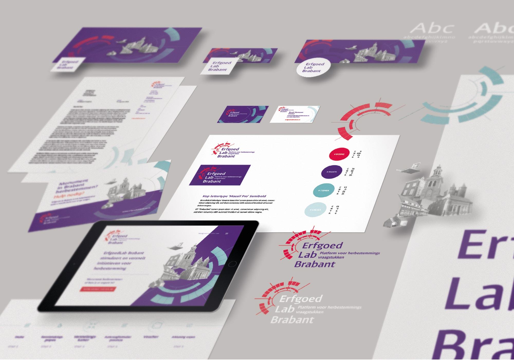 Erfgoed Lab branding JAgd ontwerp