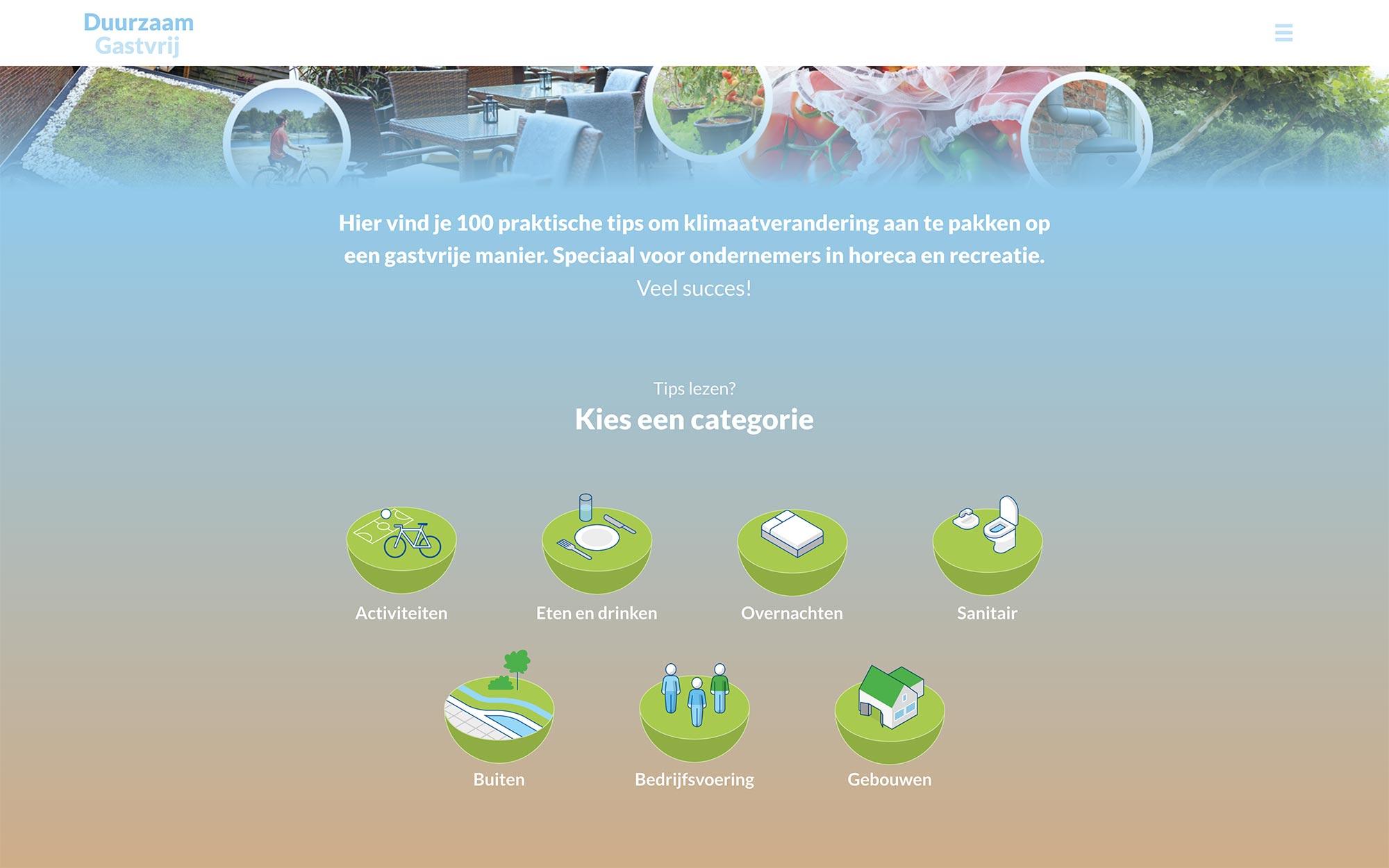 Duurzaam Gastvrij website Een Gezond Leisureklimaat JAgd ontwerp