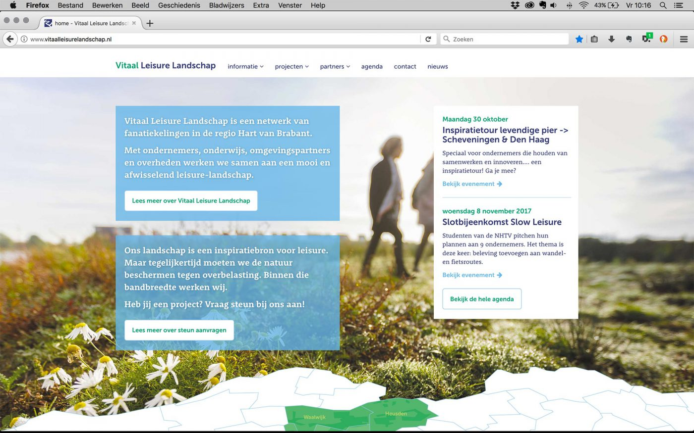 Vitaal Leisure Landschap website JAgd ontwerp