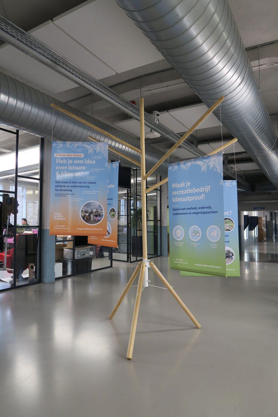 Bannerboom Een Gezond Leisureklimaat 3D ontwerp JAgd 2