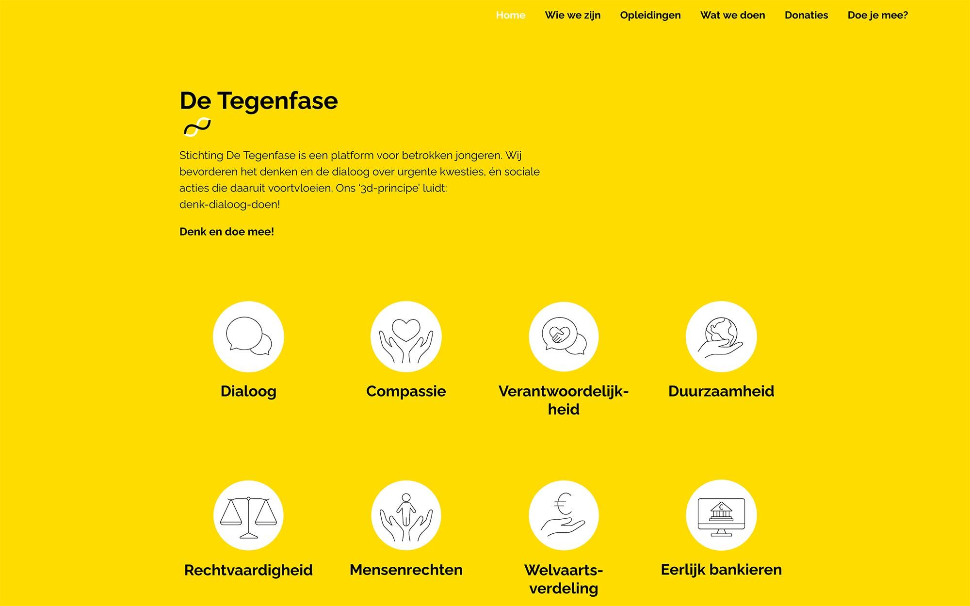 De Tegenfase website JAgd ontwerp 2