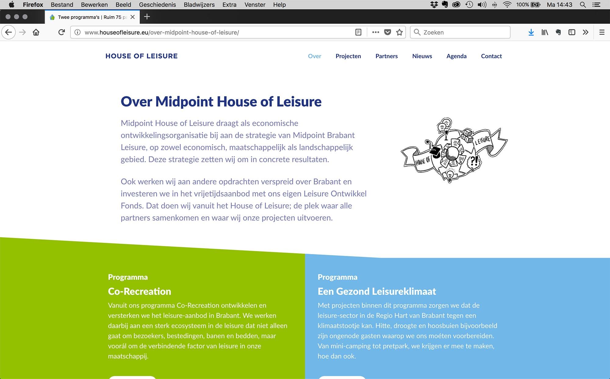 House of Leisure website JAgd ontwerp 2