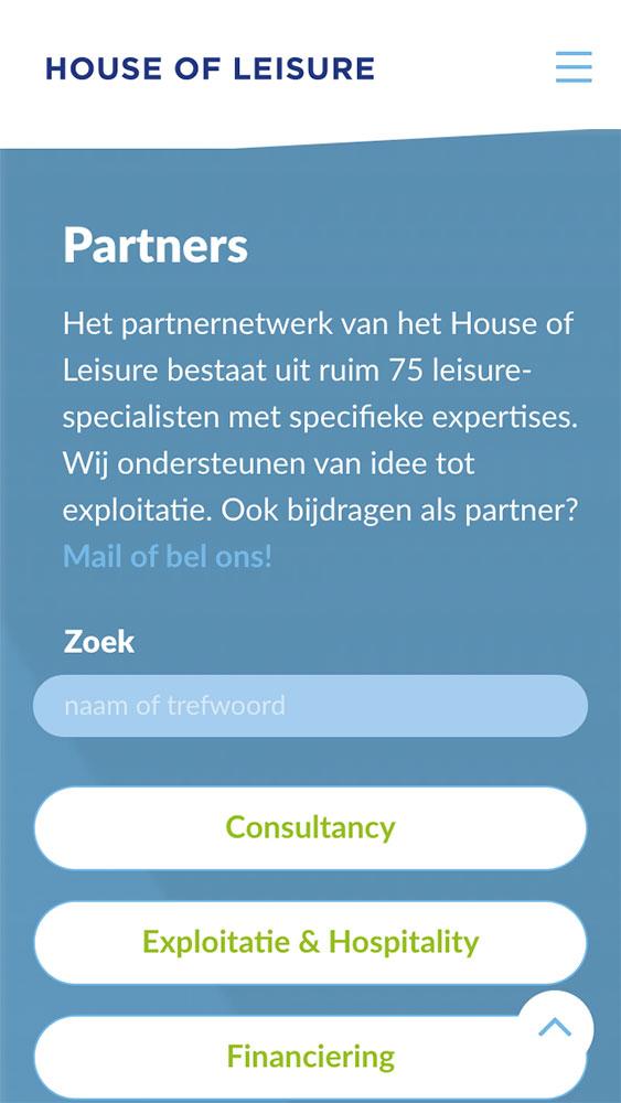 House of Leisure website JAgd ontwerp 4