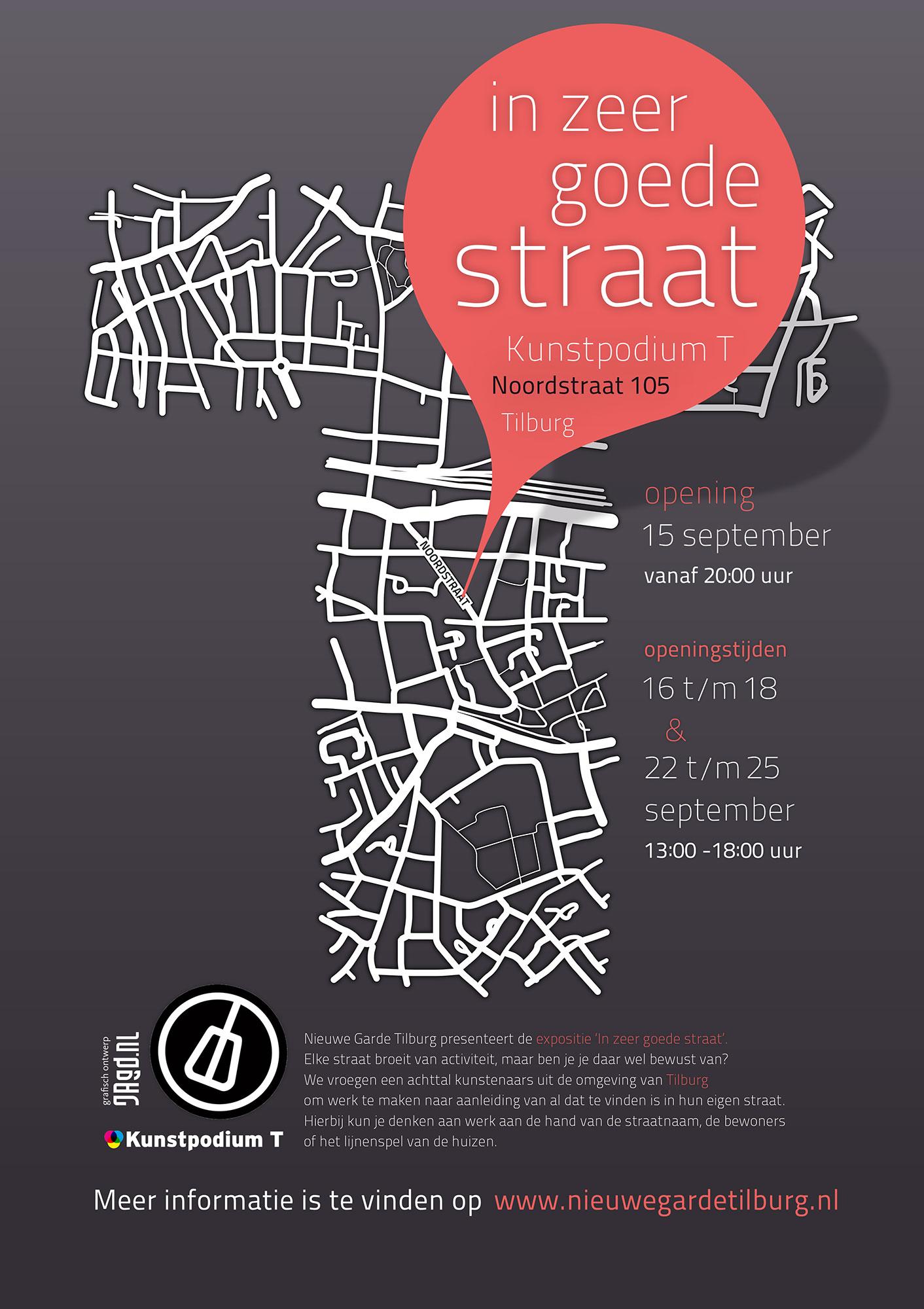 In zeer goede straat Nieuwe Garde grafisch drukwerk ontwerp JAgd
