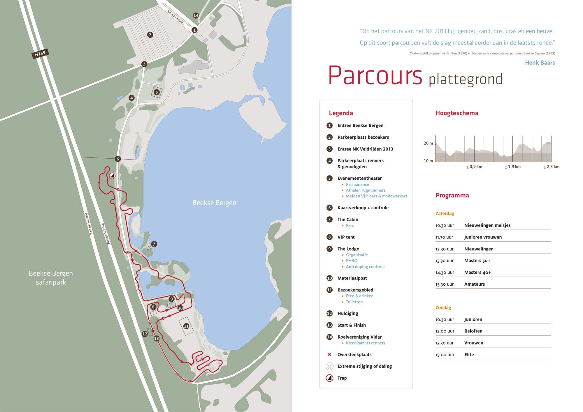 Parcours NK Veldrijden infographic ontwerp JAgd