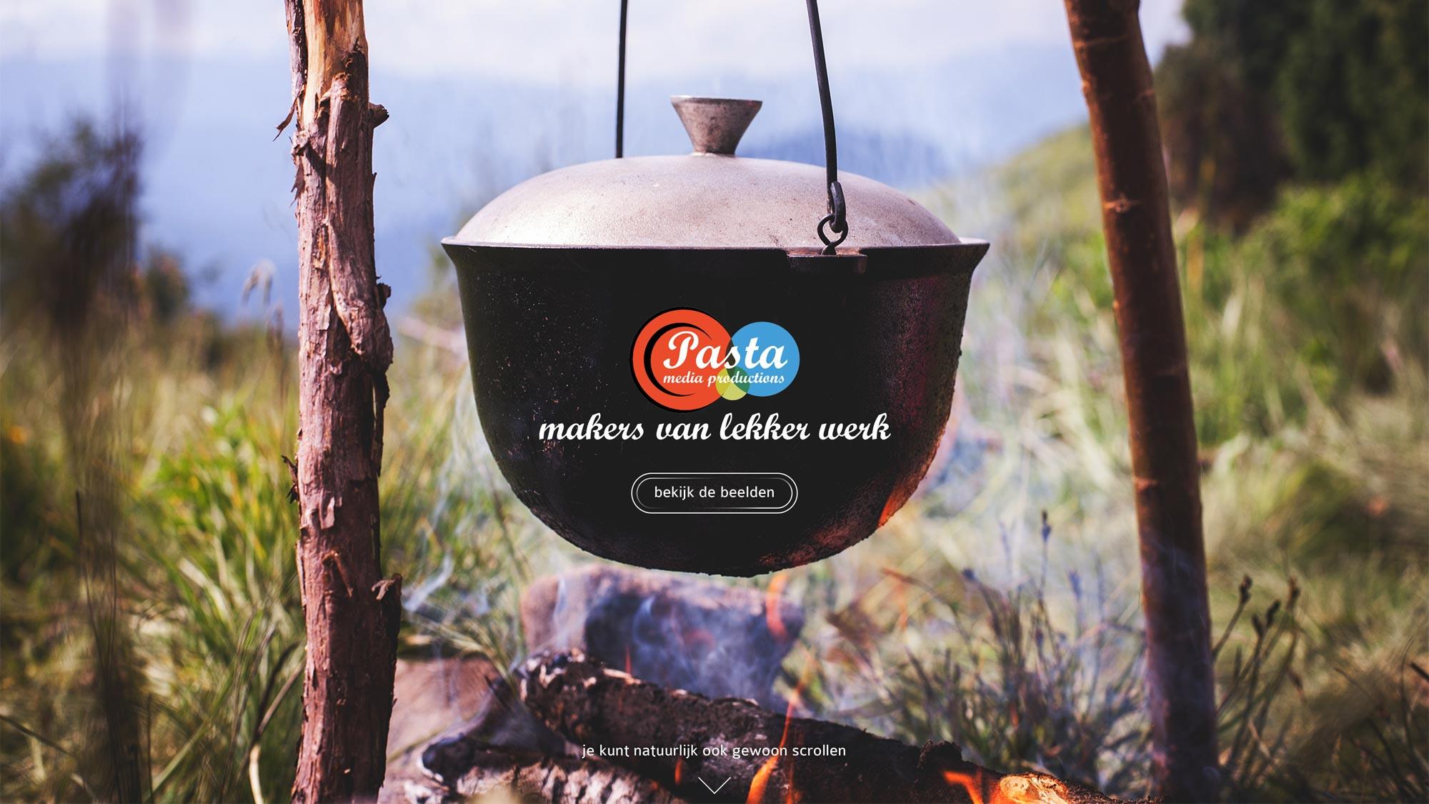 Pasta Media website JAgd ontwerp