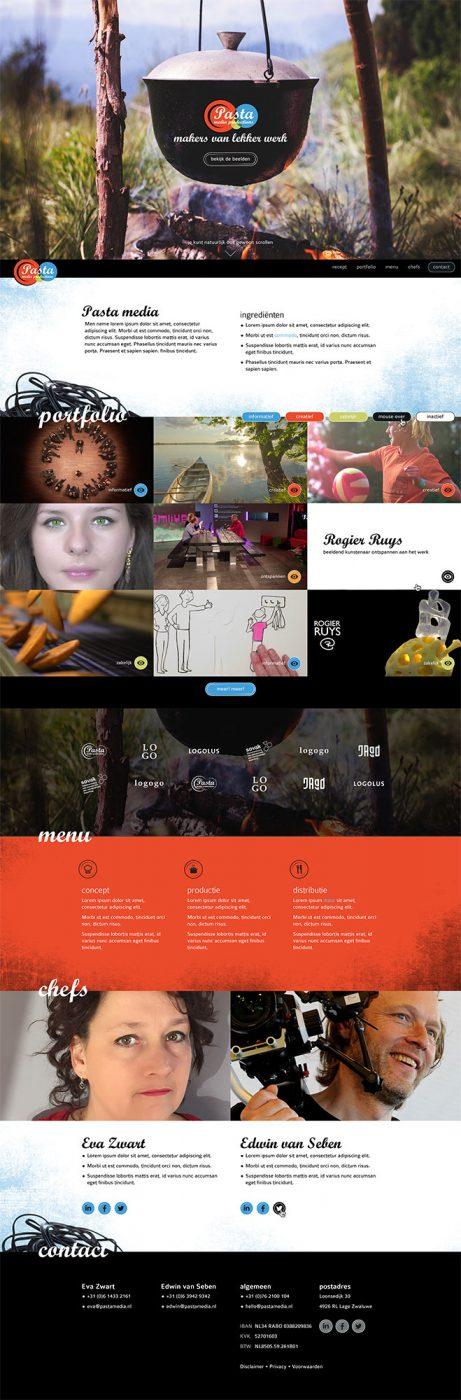 Pasta Media website JAgd ontwerp 3