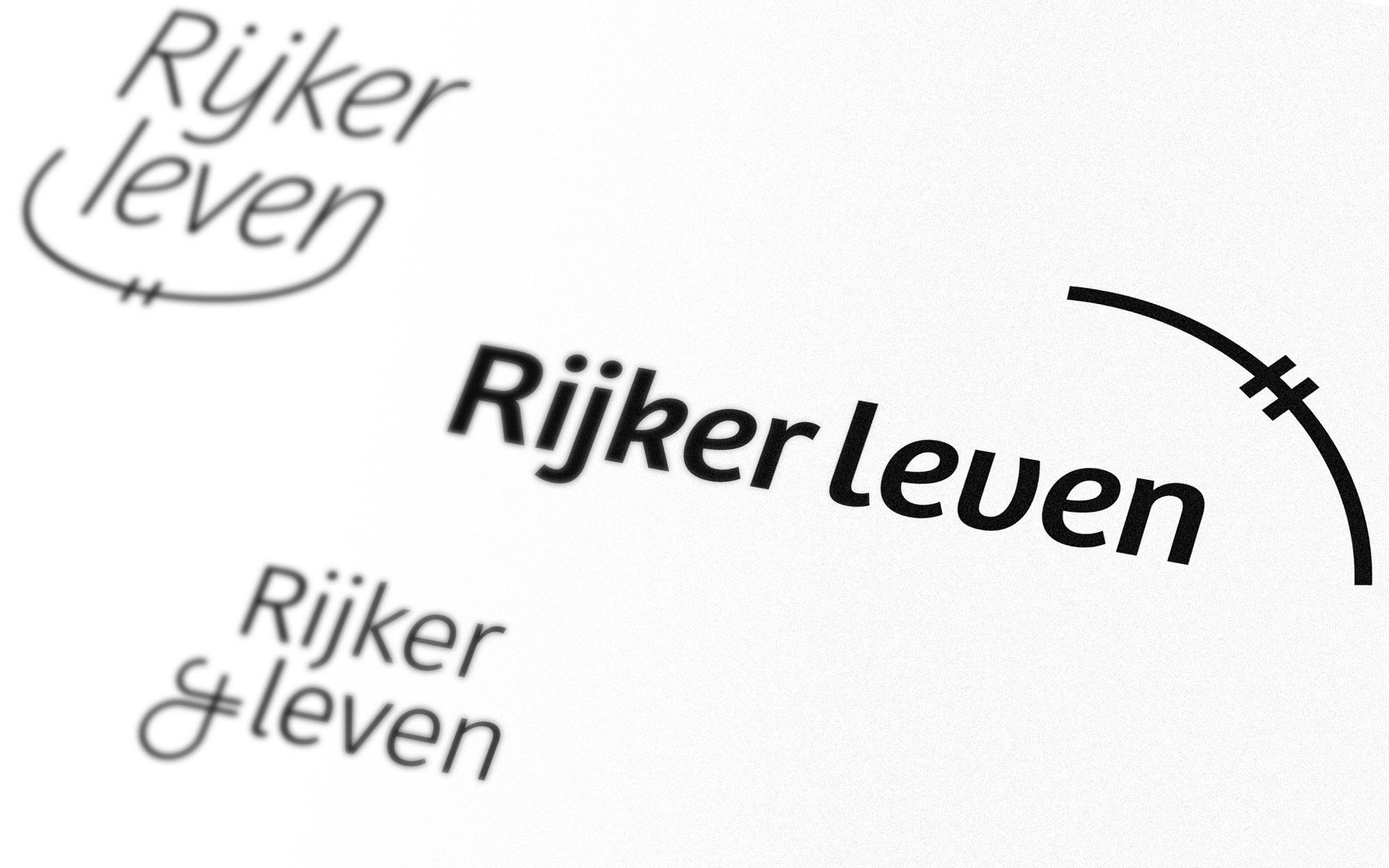 Rijker Leven logo ontwerp JAgd detail