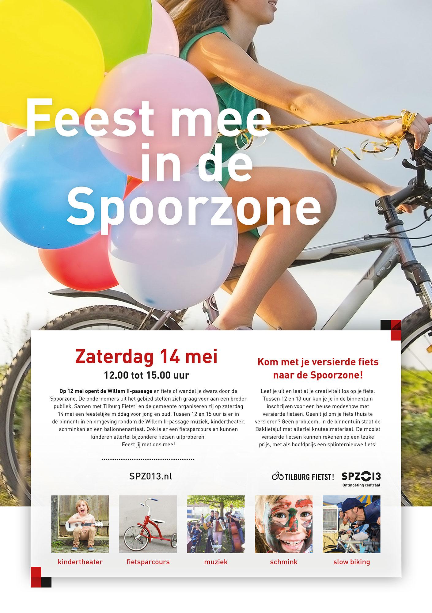 Spoorzone poster Gemeente Tilburg grafisch drukwerk ontwerp JAgd