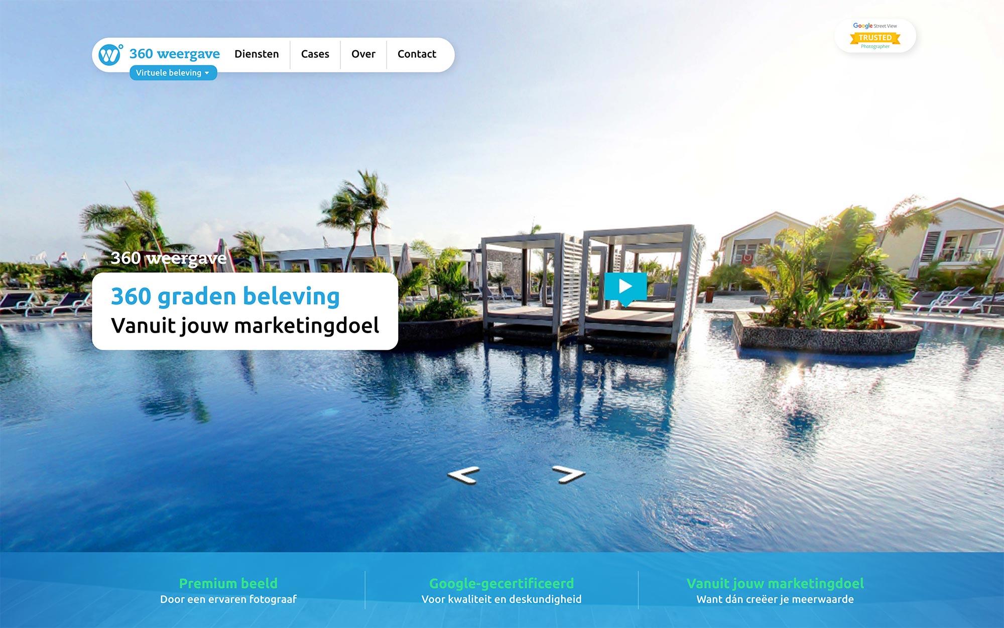 Virtuele beleving 360weergave website JAgd ontwerp