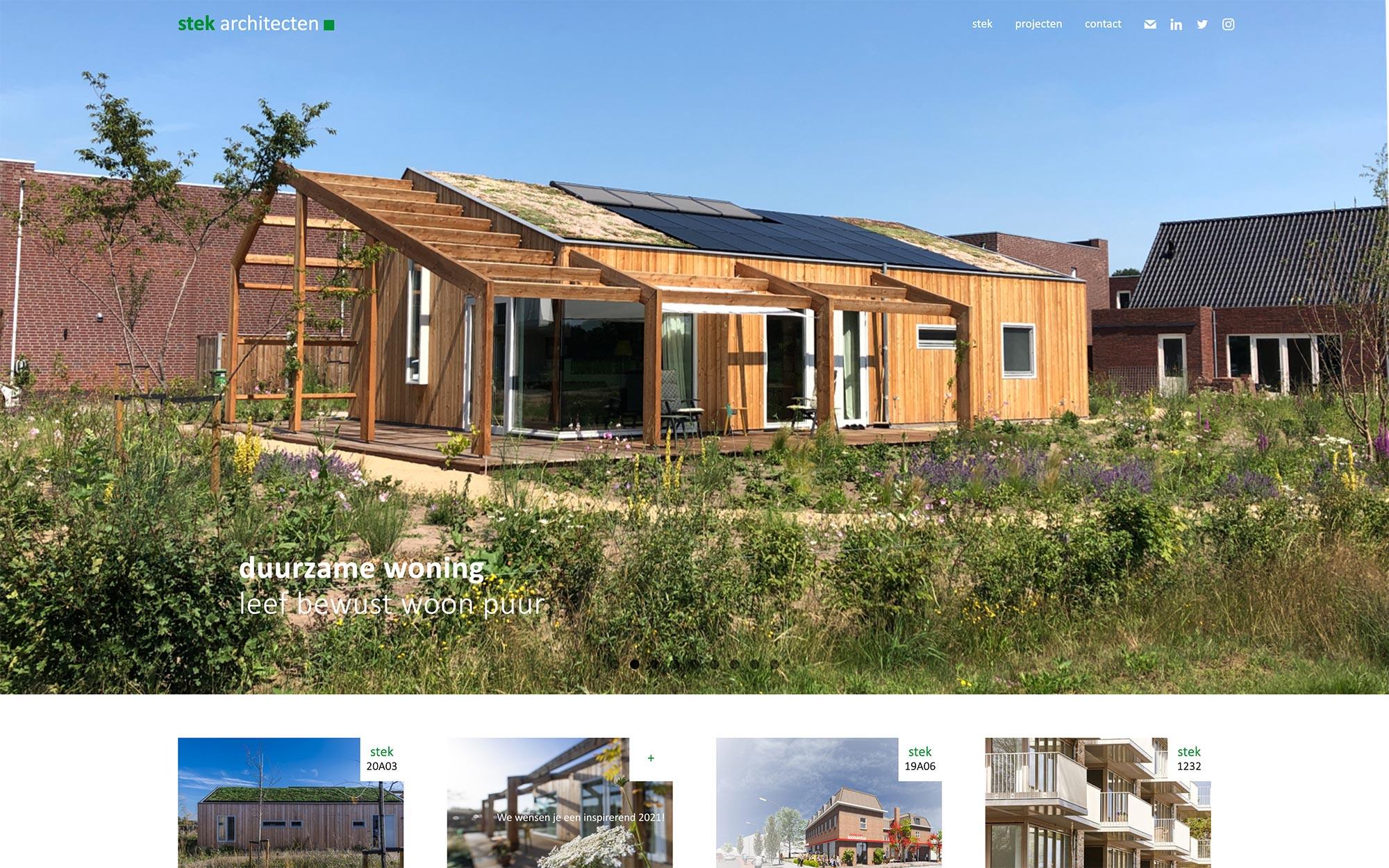 stek architecten website JAgd ontwerp