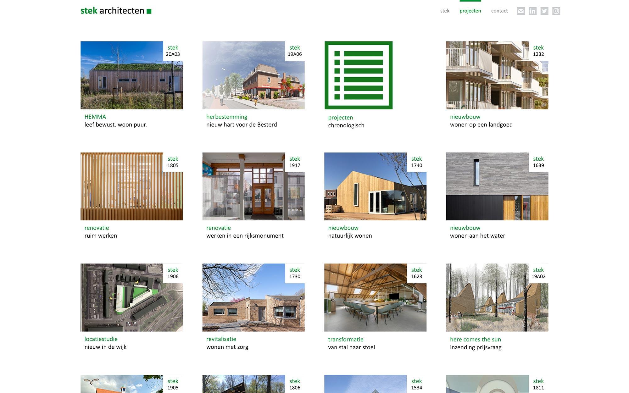 stek architecten website JAgd ontwerp 2