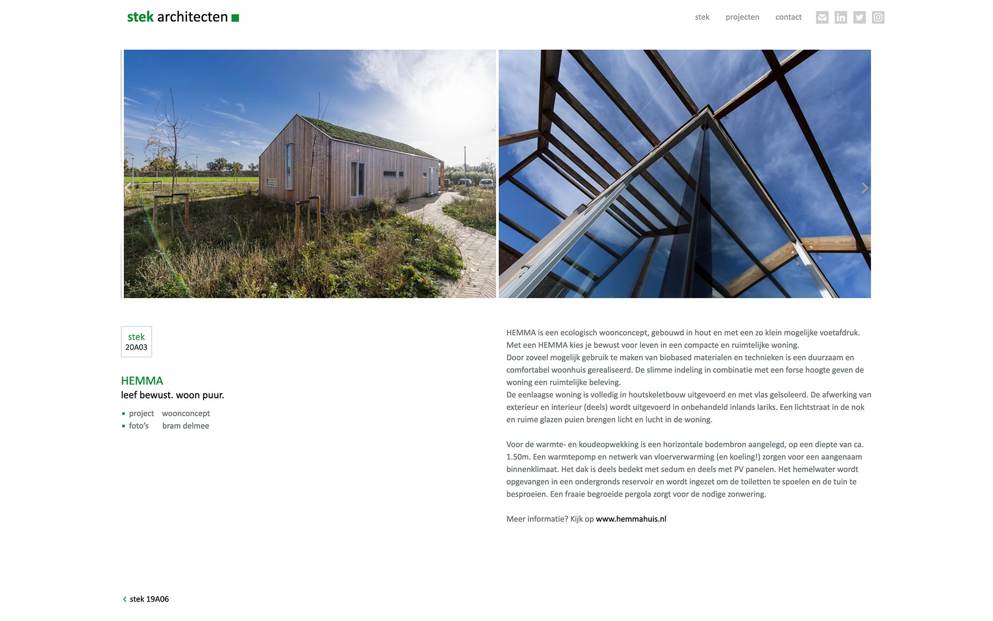 stek architecten website JAgd ontwerp 3