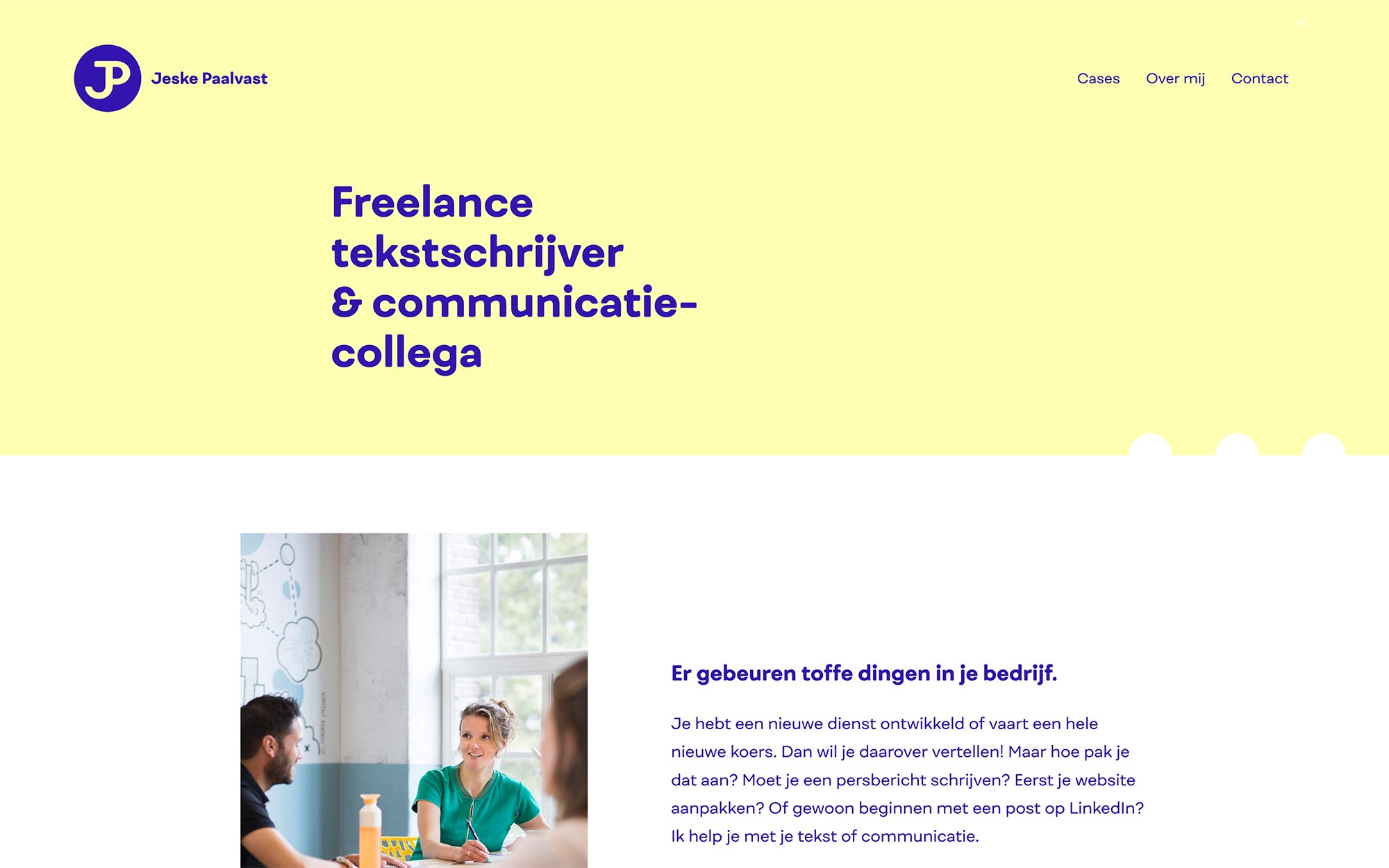 Jeske Paalvast website JAgd ontwerp