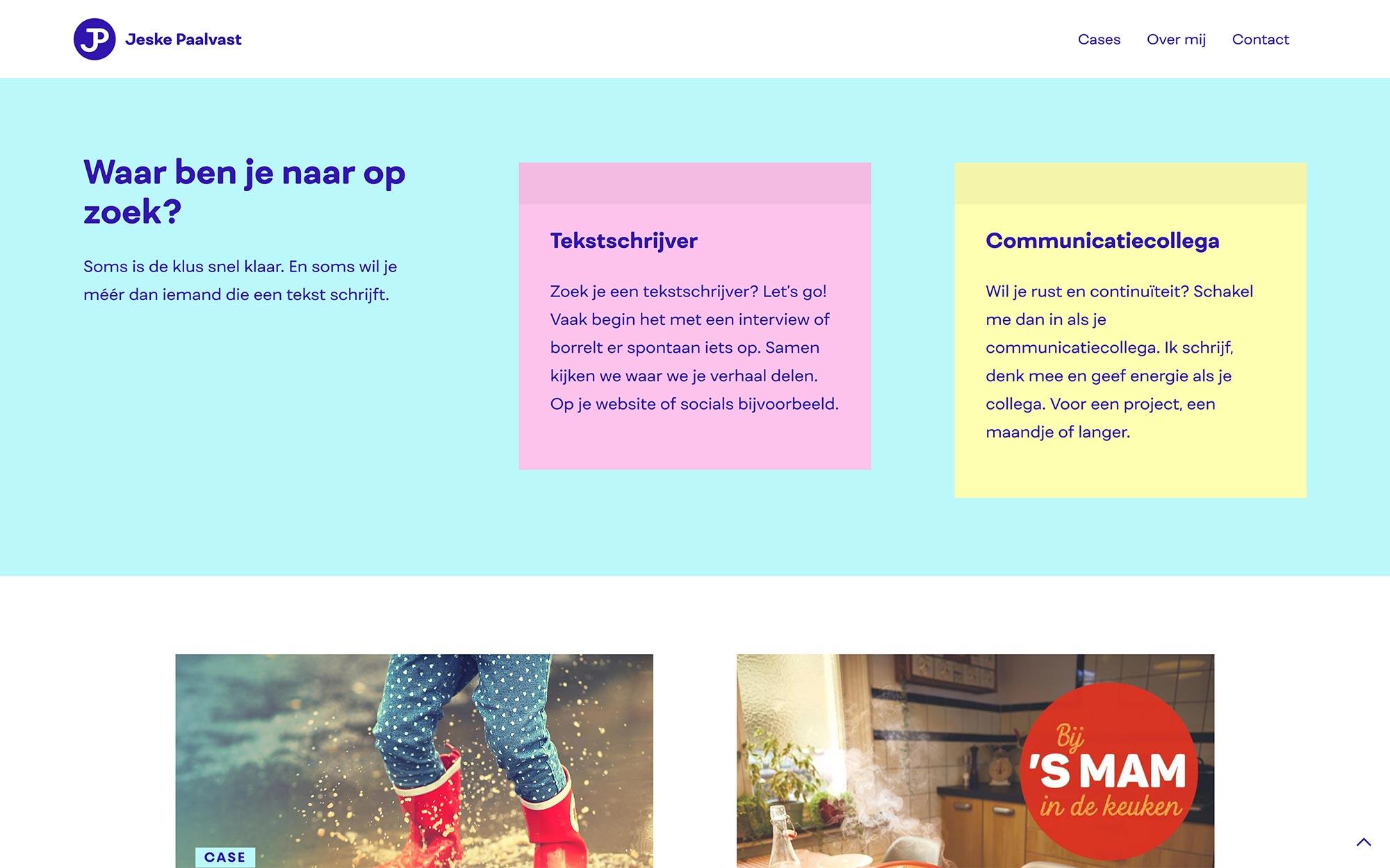 Jeske Paalvast website JAgd ontwerp 2