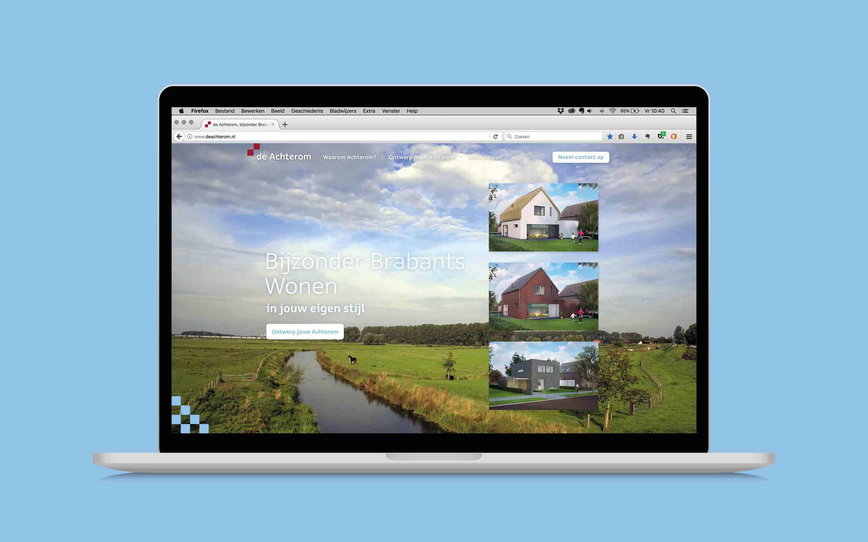 opening op laptop - website ontwerp deachterom.nl