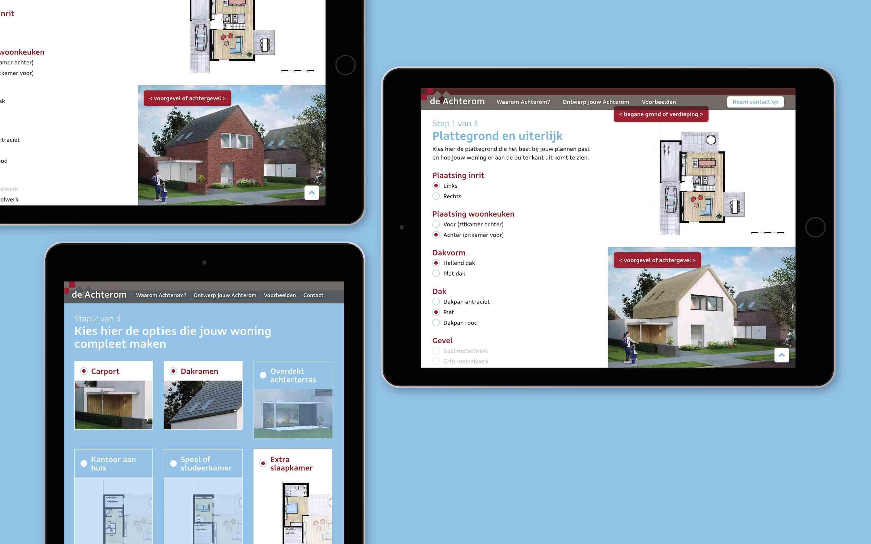 tablet versie - website ontwerp deachterom.nl