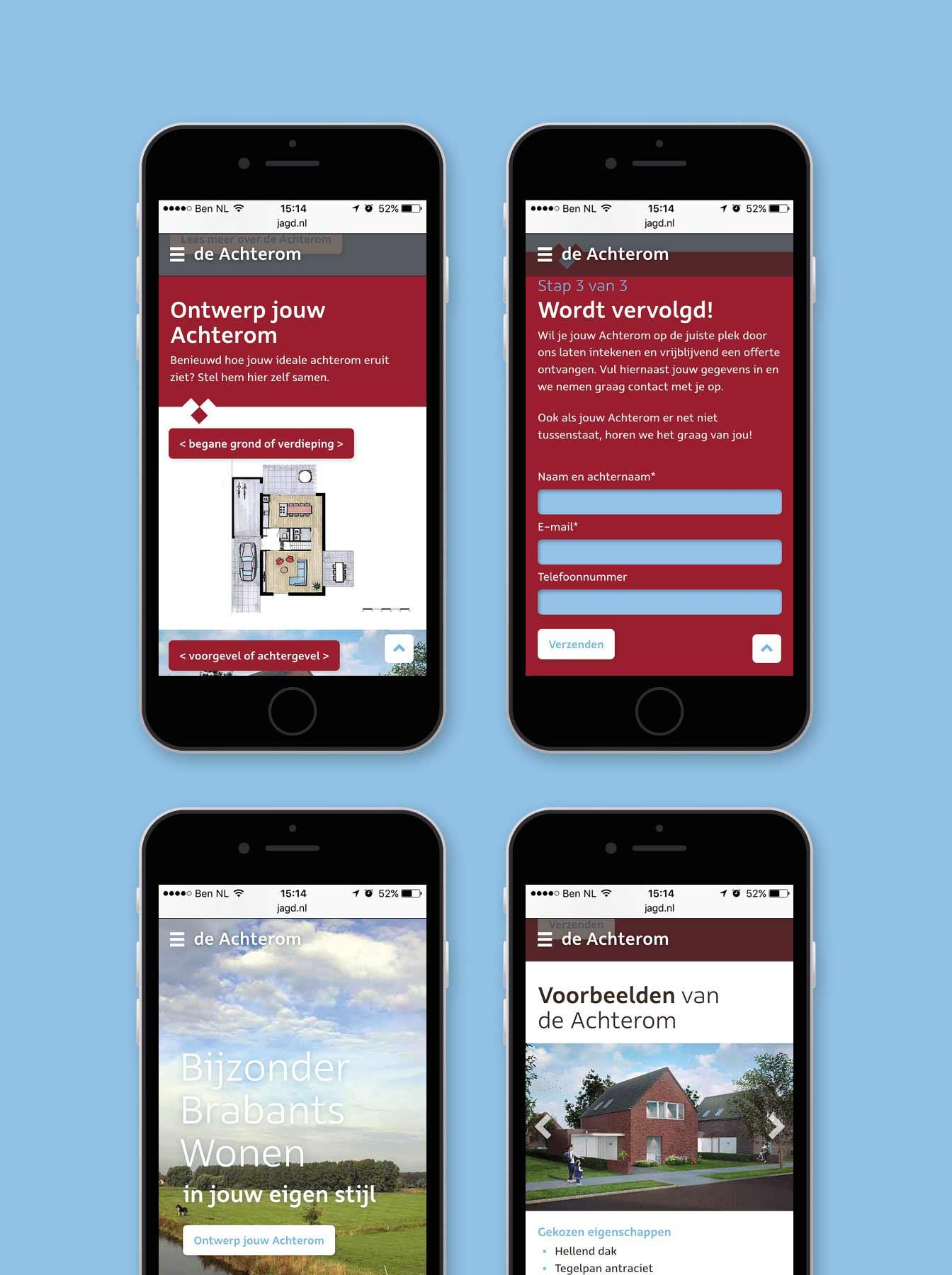 mobiele versie - website ontwerp deachterom.nl