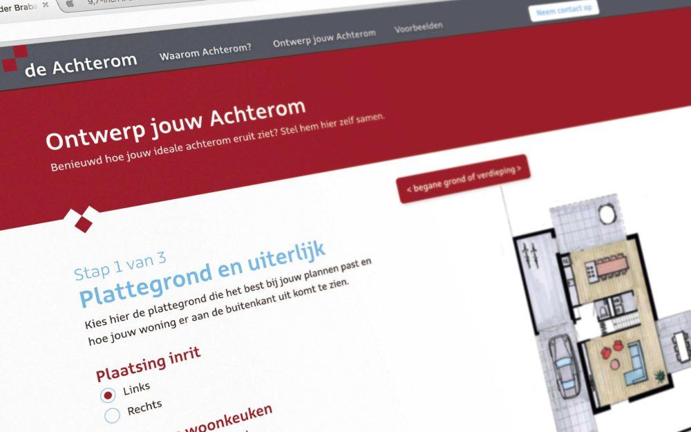 detail - website ontwerp de achterom.nl