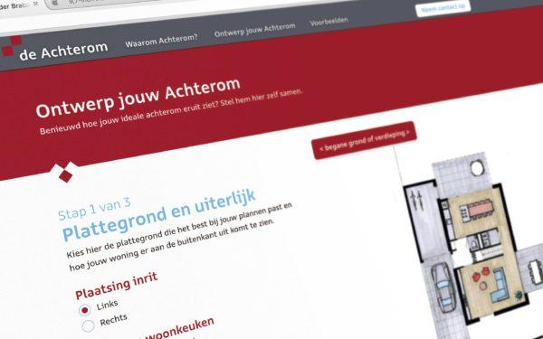 Deachterom website ontwerp · jagd grafisch ontwerp