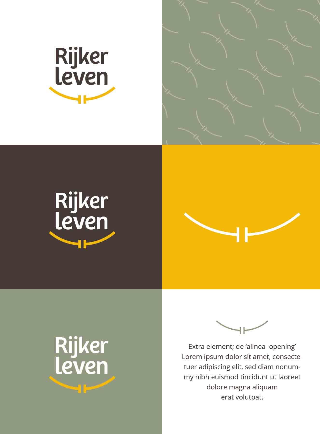 Overzicht - Rijker leven logo & huisstijl door JAgd ontwerp