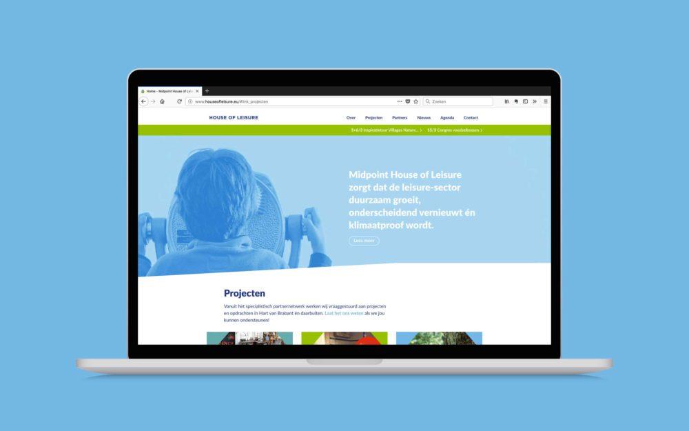 House of Leisure website ontwerp door Jagd ontwerp